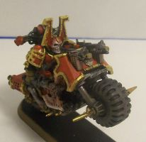 Khorne Lord on a Bike by Duet