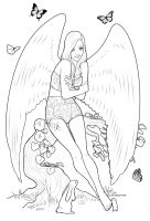 MLP Fluttershy Coloring Sheet by clz