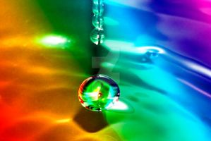 rainbow waterdrop by photographybypixie