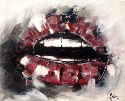 Lips Study - 3 by justcallmemike