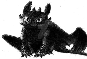 Cute Toothless by AnakinJones