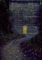 Premade Background Yellow Door by simfonic
