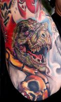 t-rex wit bad breath by tat2istcecil