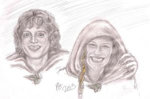 Karolyn and Frodo by rstrider9