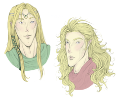 Finrod and Aegnor- Designs by avi17