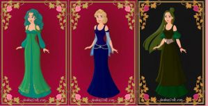 Disneyfied Outer Sailor Princesses by ArielxJim08
