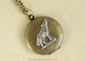 Wolf Locket - Necklace by MonsterBrandCrafts