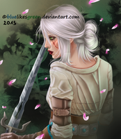 The Witcher 3 - Ciri by Bluelikesgreen
