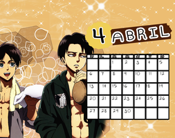 Calendario|Abril2014 by athenayabuki