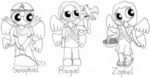 Chibi Angels 2 - Line by Llrael