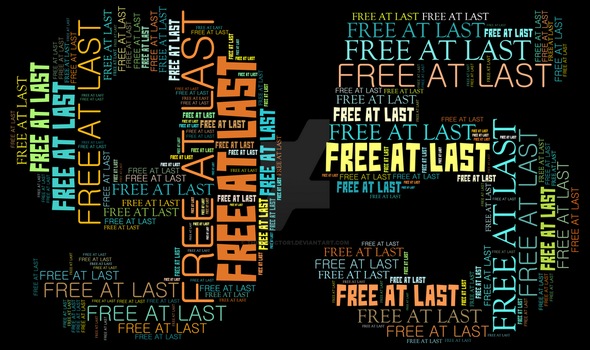 Nelson Mandela Free At Last! Free At Last! by Thinkdoctor1