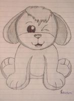 Webkinz Brown Dog Sketch by YellowLab8078