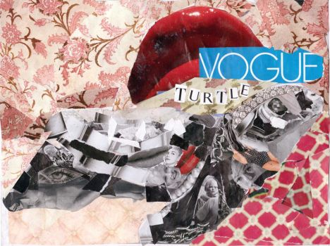 Vogue Turtle (collage) by padfootlestrange