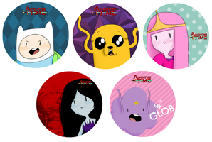 adventure time stickers! by silvershadowhdgehog