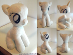 MLP: Sitting Filly Plush Patterntest by zuckerschnuti