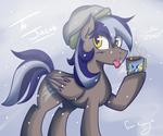 Gift: Comet Tail loves Coffee by BlacksWhites