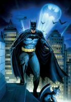 Batman on a Rooftop2 by Habjan81