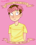 Flower Crown Morty by xCuteiKinz
