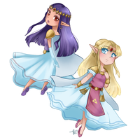 Zelda and Hilda by Raidiance