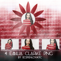 Emilia Clarke Png Pack by EcerenLovatic