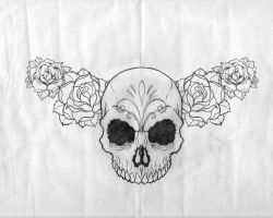 Sugar Skull Tattoo Design by esferograffico