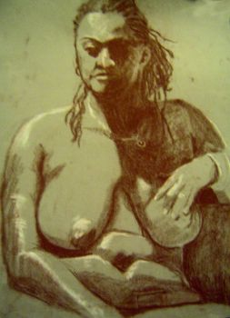 A Figure Drawing by Widelia