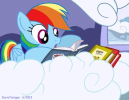 Reading Rainbow Dash by LateCustomer