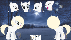 Frost 'Littleflake' Fall's Reference Sheet by Rin-Sylveon-Chan