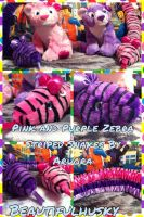 Pink and Purple Sankes By Aurora by BeautifulHusky