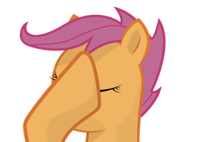 Scootaloo Facehoof by Isoscelescube