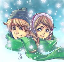 Kristoff and Anna - Frozen by lince