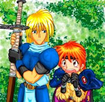 Gourry and Lina by pixelmuse