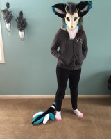 Featheroo Fursuit Head+Tail Commission by Ariokkii