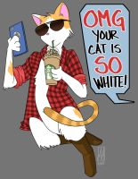 OMG Your Cat is SO White! by sapphiresky1410