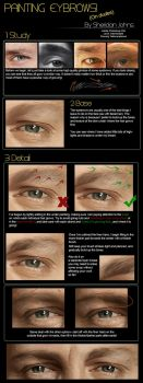 Painting Realistic Eyebrows! by Sheridan-J