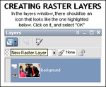 paint shop pro: raster layers by rocketlaunch