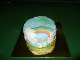 Silly 21st Cake by LamieG
