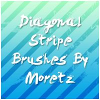 Diagonal Stripe Brushes by Moretz