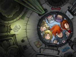 Megatokyo Omnibus 1-3 cover by fredrin