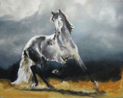Andalusian Horse -speedpaint by akuinnen24