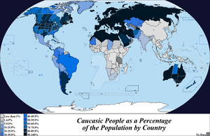 Caucasic People by Country by Iori-Komei