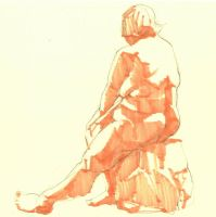life drawing  003 by JohnnyTHL