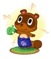 Tommy-Nook from Animal Crossing by skyehopper
