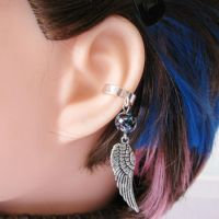 Feathered Wing Ear Cuff by merigreenleaf