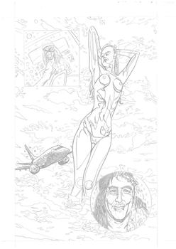 Iron Maiden page 26 pencils by DarrenEmond