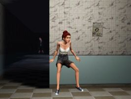 Sims 3 Slenderman by CountingFireFlies