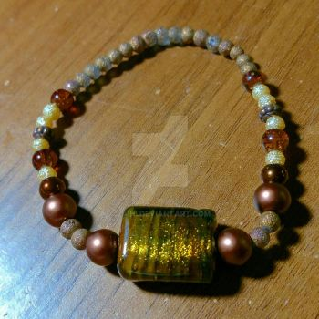 Earth tones stretch bracelet  by Laihi