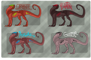 Flesh Dragons - Offer to Adopt - CLOSED by RukaSwift