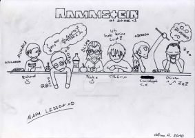 Rammstein at School by Fangschrecke