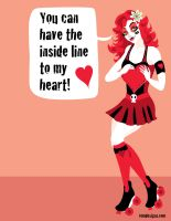 Roller Derby Valentine by remdesigns